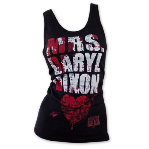 The Walking Dead Mrs Daryl Dixon Officially Licensed Junior Girls Tank Top Shirt S