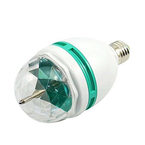 Colorful Rotating Rgb 3 Led Spot Light Bulb Lamp in US - 7