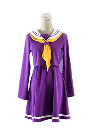 No Game No Life Shiro Costume - Love No Game No Life Cosplay Costume-Shiro Purple Sailor 6Pcs Set