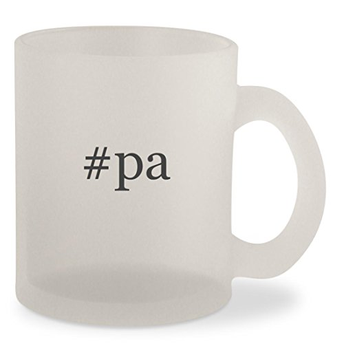 #pa - Hashtag Frosted 10oz Glass Coffee Cup - Newtown Glasses
