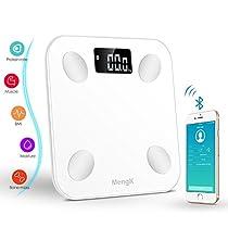 Bilancia Pesapersone Digitale, Bilancia Diagnostica Tecnologia Step-on Peso corporeo, grasso corporeo, acqua, massa muscolare, BMI, BMR, massa ossea e grasso viscerale (IOS Android Devices) … …