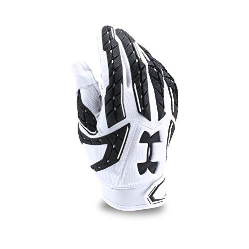 Under Armour Mens Fierce VI Football Gloves, White/Black, Large