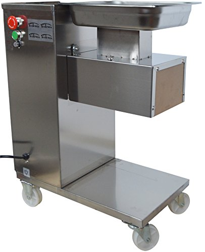 110V QE Commercial Meat Slicer Machine Stainless Steel with Longer 3mm Blade 500kg/h(Item#160512)