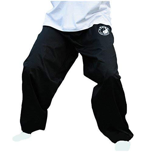 (ZooBoo Chenjiagou Taichi Lantern Pants - Practice Uniforms Tai chi Clothing Black Cotton Cloth Martial Arts Practice Pants (3XL))