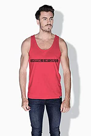 Creo Shopping Is My Cardio Funny Tanks Tops For Men - S, Pink