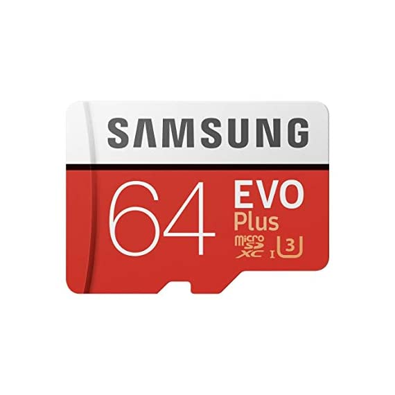 Samsung 64GB MicroSDXC EVO Plus Memory Card w/ Adapter (MB-MC64GA) 1 64GB microSDXC Memory Card EVO Plus Family Line Read:up to 100MB/s with UHS-1 interface Write:up to 60MB/s with UHS-1 interface UHS-I, compatible to HS interface, Grade 3, Class 10, 4K