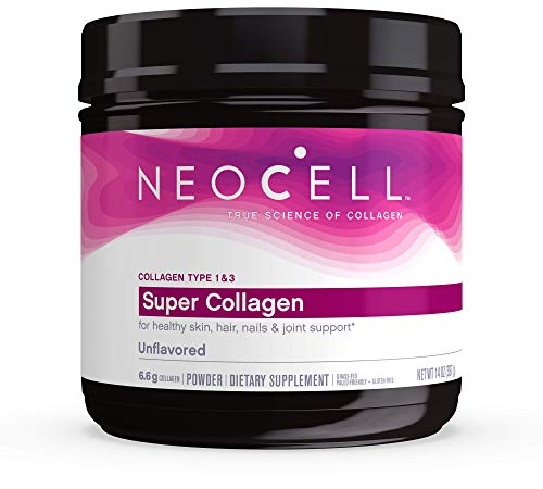 NeoCell Super Collagen Powder, 6,600mg Collagen Types 1 & 3, unflavored, 14 Ounce (Packaging May Vary)