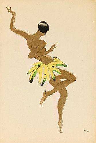 Le Tumulte Noir (banana skirt plate) Vintage Poster (artist: Colin, P) France c. 1929 (12x18 Fine Art Print, Home Wall Decor Artwork Poster)