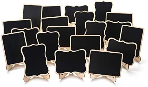 Amazon.com: ONUPGO - Paquete de 20 minipizarras de pizarra ...