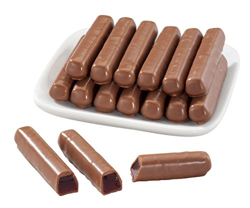 Sweets Candy Milk Chocolate Sticks, Orange, 10 - Jelly Chocolate Orange Covered