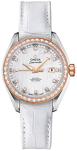 Omega Seamaster Aqua Terra Automatic Diamond White Mother of Pearl Dial Ladies Watch 231.28.34.20.55.002