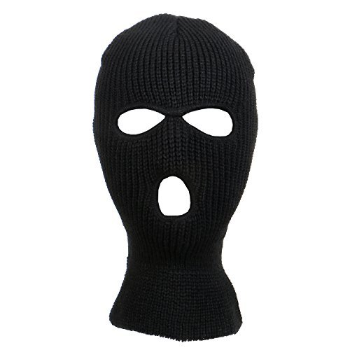 (Knitted 3-Hole Full Face Cover Ski Mask)