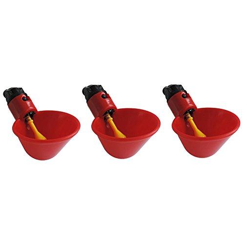 3Pcs Birds Water Bowl Drinker Cups for Backyard Chicken Flock Automatic Poultry Quail Drinker Chicken Waterer Bowl Farm Poultry ()