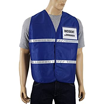 Blue Full Source Reflective Incident Command Safety Vest