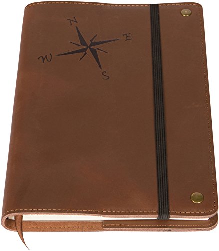 real-leather-refillable-writing-journal-elastic-strap-embossed-compass-rose-design-200-lined-pages-5