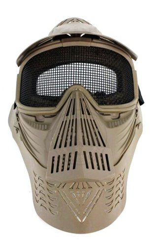 AMA Complete Protection Wire Mesh Airsoft Face Mask - TAN ()