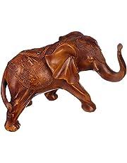 تمثال شكل فيل للديكور بولي من اتش اس جي - بني