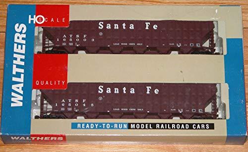 (WALTHERS 932-25689 Greenville 7,000 CU FT Wood CHIP Hopper 2-PK Santa FE)