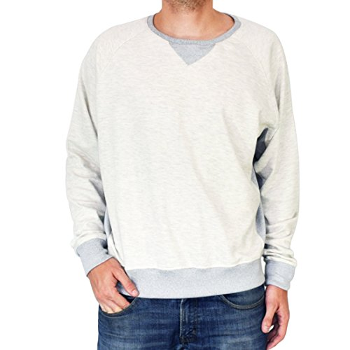 Antigua Ribbed Pullover - Hide & Drink Super Soft 50's Retro Throwback Sweatshirt Handmade (Gray)