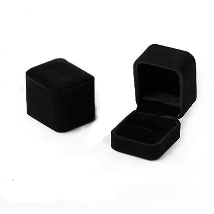 Caja de anillo de terciopelo Regalo Joyero Pareja caja del ...