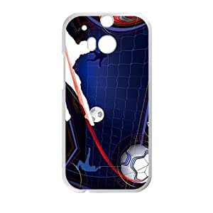 Cool Man Football Pattern Custom Protective Hard Phone Cae For HTC One M8