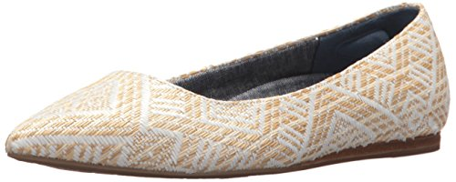 Dr. Scholl's Shoes Women's Leader Ballet Flat, Natural Raffia, 9.5 Medium US (Flats Raffia)