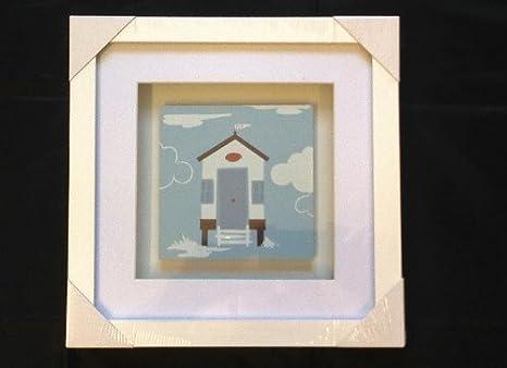Diseño náutico orilla del mar diseño náutico de diseño de casetas de playa White Box marco de fotos de madera de baño conservatorio: Amazon.es: Hogar