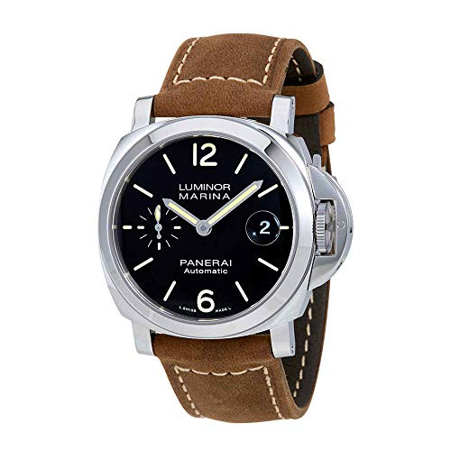 Panerai Marina - Panerai Luminor Marina Black Dial Automatic Mens Watch PAM01048
