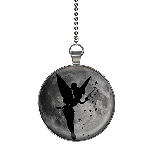 (Fairy Star Magic Glow in the Dark Fan/Light Pull Pendant with Chain)