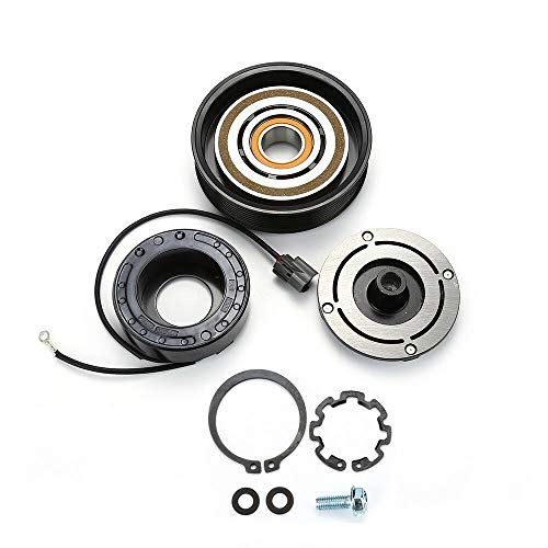 AC COMPRESSOR CLUTCH KIT (PULLEY, BEARING, PLATE) FOR Honda Accord 2003-2007 2.4L ()