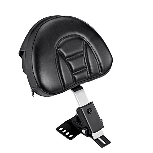 Motorcycle Backrest Driver (INNOGLOW Motorcycle Backrest Pad Black PU Detachable Adjustable Rider Driver Fit Harley Touring Models 1998-2008)