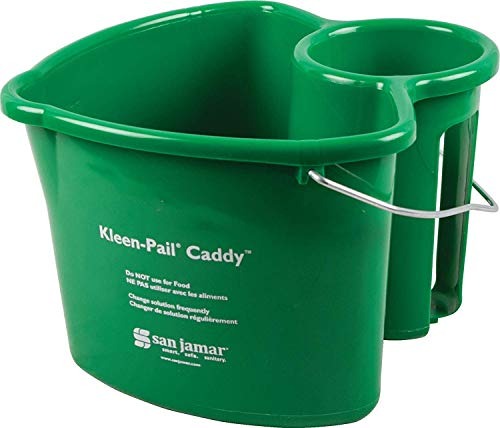 - San Jamar KP550GN Kleen-Pail Commercial Cleaning Caddy Only, Green