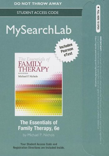 MySearchLab with Pearson eText -- Standalone Access Card -- for The Essentials of Family Therapy (6th Edition) (MySearchLab (Access Codes))