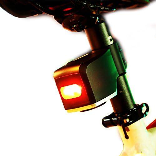 Hengyi Luz Trasera para Bicicleta Recargable, Alarma antirrobo ...