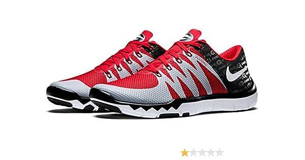 49483e74c07ab Amazon.com  Nike Free Trainer 5.0 V6 Amp  Ohio State Buckeyes  723939 006  Wolf Grey blk-university Rd-white Size 9.5   Shoes