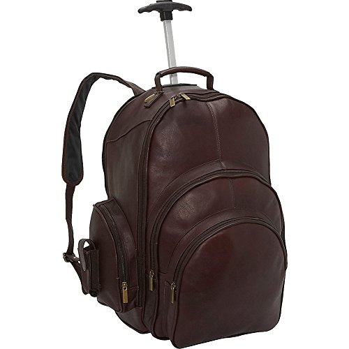 (David King & Co. Backpack On Wheels, Cafe, One Size )