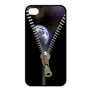 Art Zipper The Earth Custom Phone Case For iPhone 4 4S TPU Rubber Case Cover Skin