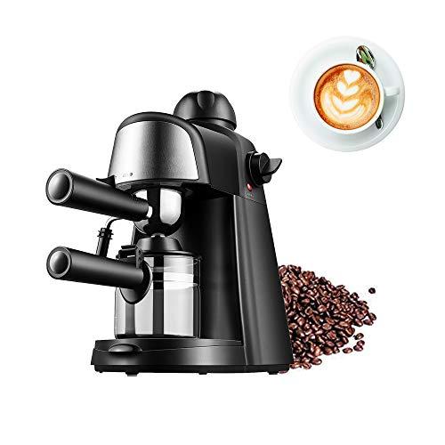 Máquina de café Espresso, 4 Tazas, 5 Barras, Capuchino, vaporizador, cafetera con Varilla de espumador de Leche para…