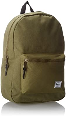 5169d96fcc Herschel Supply Co. Settlement Canvas Backpack Washed Army Army Black One  Size
