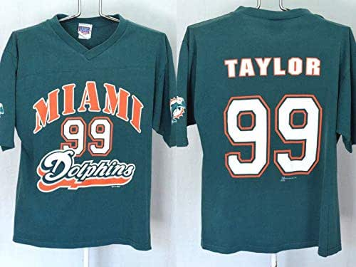 fe2c4ee6 Amazon.com: Vintage Miami Dolphins Jason Taylor 99 T Shirt Mens ...