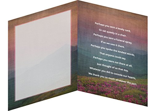 Funeral Memorial Service Thank You Cards & Envelopes (25 Count) (Floral Sunset - (Memorial Set)