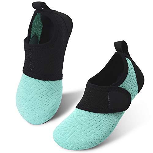 - JIASUQI Kids Boys Girls Barefoot Water Shoes Beach Sandals Pool Easy Green US 9.5-10 M Toddler
