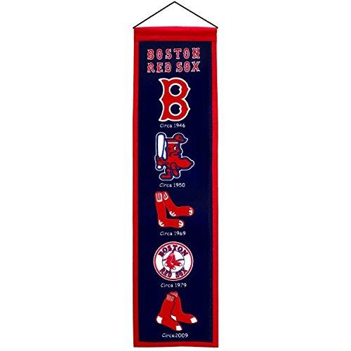 Boston Red Sox Winning Streak Past Mascots Wool Heritage Banner (8