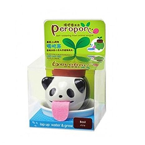 Mini macetas de plantas de cerámica Auto-riego lindo Jardinero de animales Cultivo de lengua de bebés
