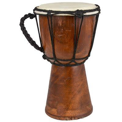 BND Drums Mini Djembe Drum Djembe jembe is a Rope-Tuned Skin Covered Goblet Drum Played with Bare Hands Originally from West Africa (Brown, 4x8)