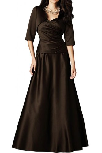Angel Bride A-Line Satin Mother of the Bride Dresses Evening Gowns Long