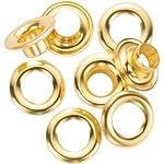 General 1261-4 #4 Brass Grommet Refills 72 Count (3 Packs of 24)