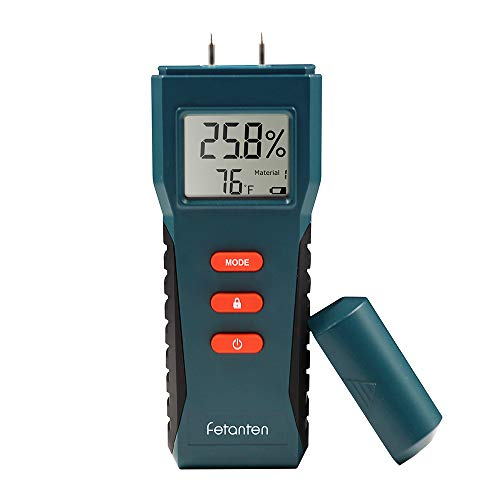 Wood Moisture Meter, Digital Pin-Type Moisture Detector Dampness Meter for Water Leak Tester Hidden Leaks and Moisture Wood Building Material Firewood Walls Paper Floor (TS006)