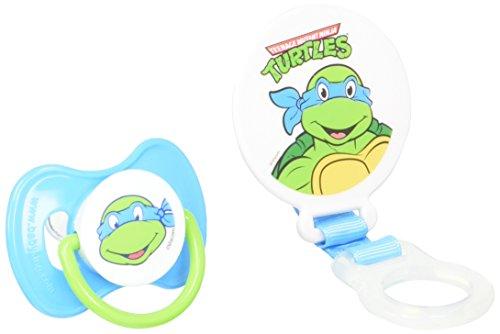 Nickelodeon Ninja Turtles Pacifier and Holder,colors may vary