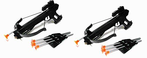 Crossbow Arrows 18' Arrows (Set of (2) Toy Crossbow Play Sets W/ 4 Soft Darts)